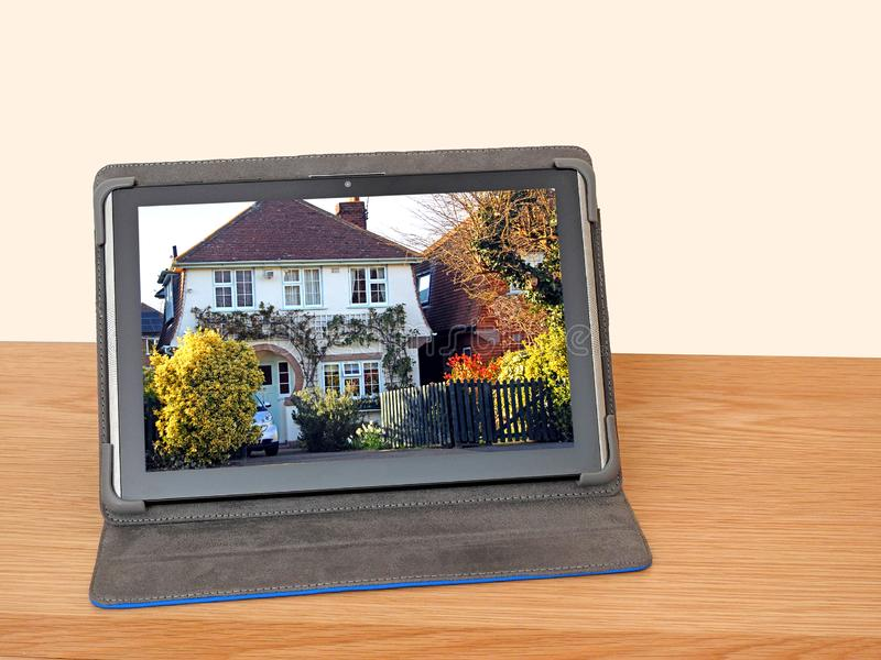 Gmeranie dla majątkowego dom hipoteki interneta online obrazy royalty free