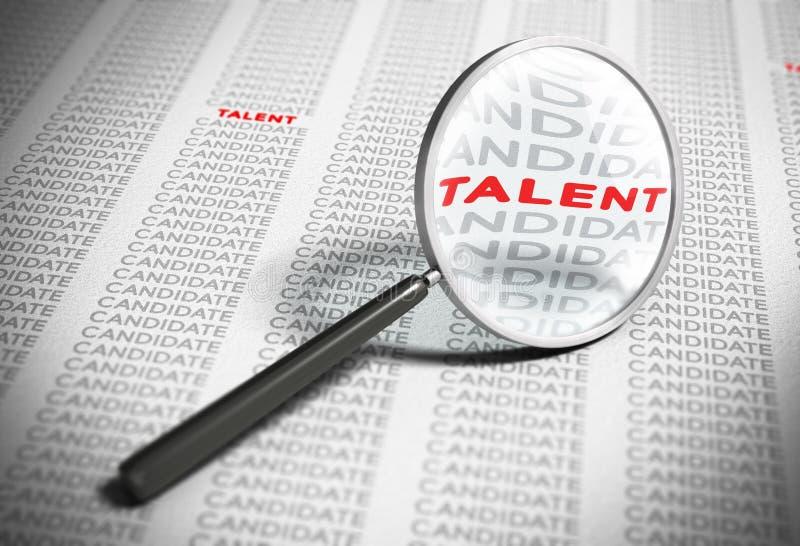 Gmeranie dla talentów - Rekrutacyjny pojęcie ilustracja wektor