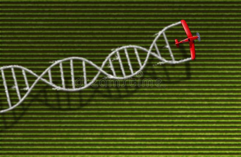 GMO播种健康概念 库存例证