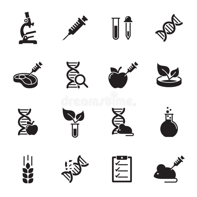 GMO,被设置的遗传学象 向量例证