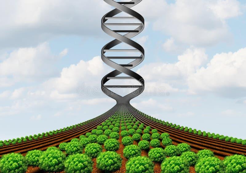 GMO, das Wissenschaft bewirtschaftet lizenzfreie abbildung