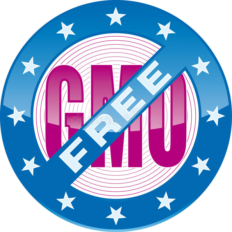 GMO-free. Editable GMO-free sign (vector format enable royalty free illustration