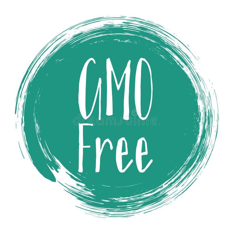 GMO free icon, natural origination package label. GMO free icon, package label vector graphic design. Natural origination GMO free ingredients products label stock illustration