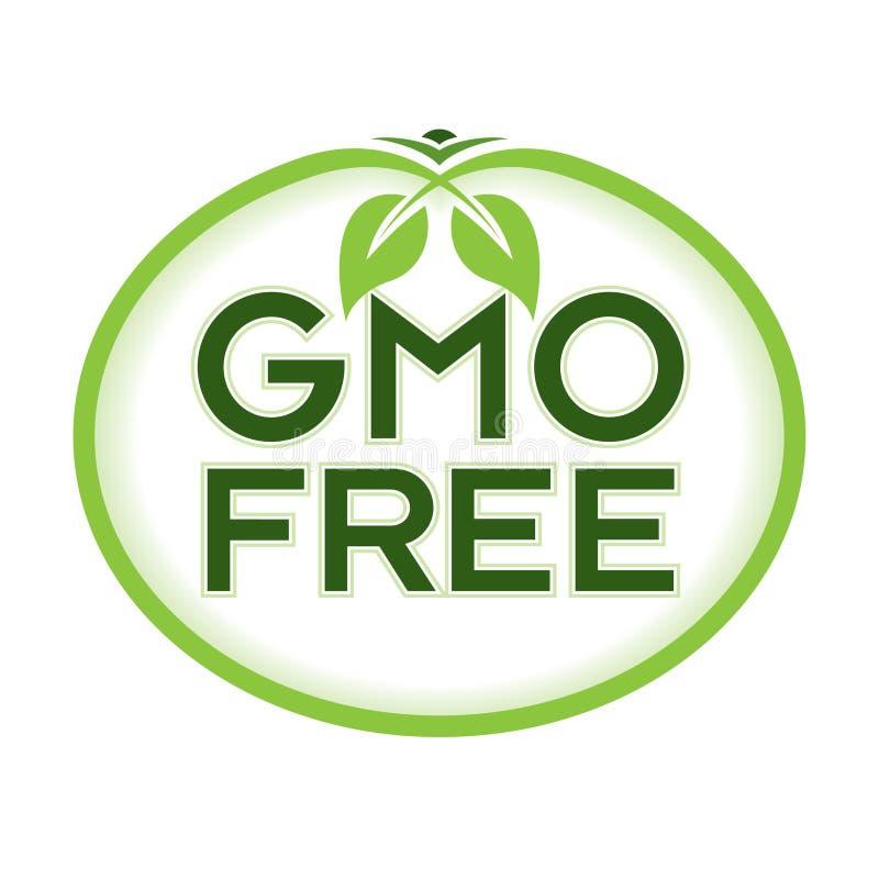 GMO Free Logo Icon Symbol. GMO Free Vector Illustration Graphic Oval Symbol Typographic. Fully editable vector illustration for packaging, print and web stock illustration