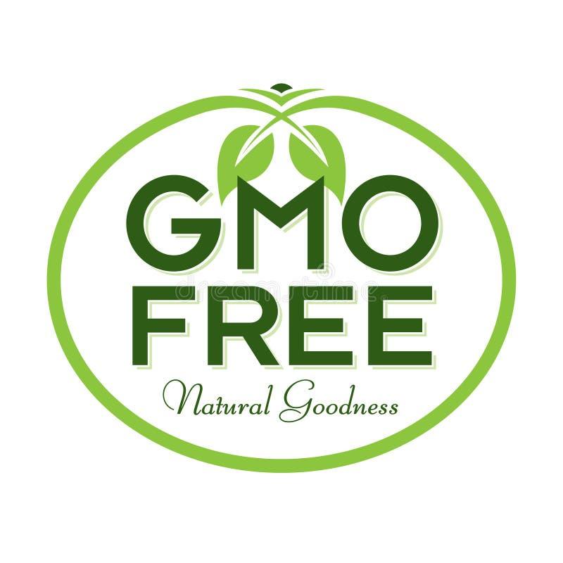 GMO Free Natural Goodness Logo Icon Symbol. GMO Free Natural Goodness Vector Illustration Graphic Oval Symbol Typographic. Fully editable vector illustration for stock illustration