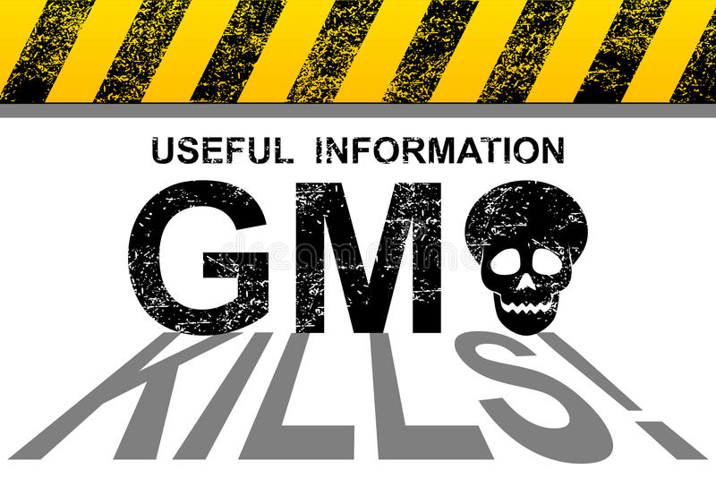 GMO kills. Illustration of genetically modified organisms as a real threat to the future of the world royalty free illustration