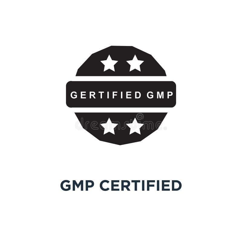 Gmp intygade symbolen Enkel beståndsdelillustration Gmp intygade c stock illustrationer