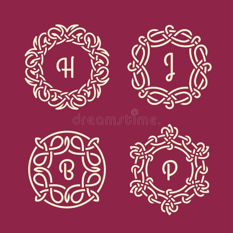 Gnäggandemonogram royaltyfri illustrationer