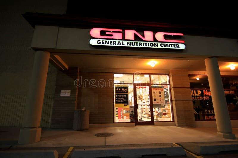GNC przy nocą obraz royalty free