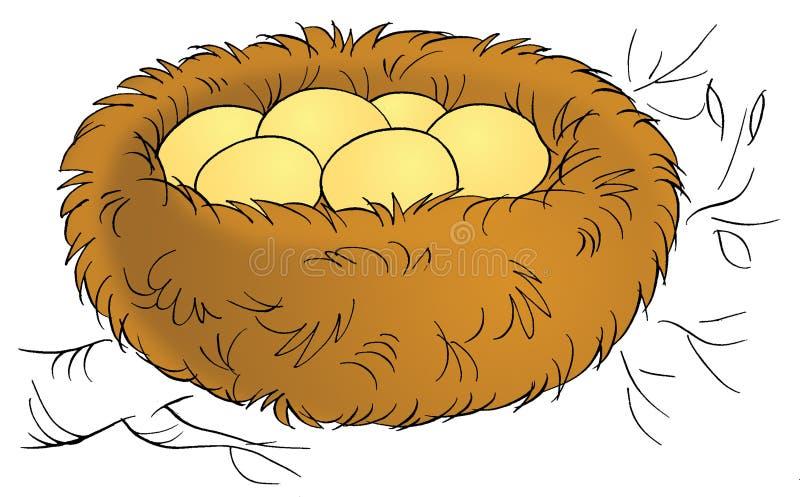 gniazdo ilustracja wektor