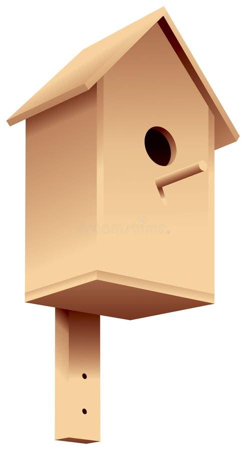 Gniazdować pudełko, birdhouse royalty ilustracja