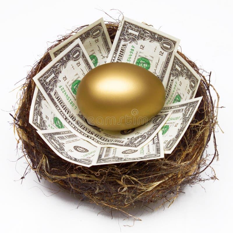 GNIAZDOWEGO jajka oszczędzania funduszu emerytalnego bogactwa PIENIĘŻNY planowanie zdjęcie stock
