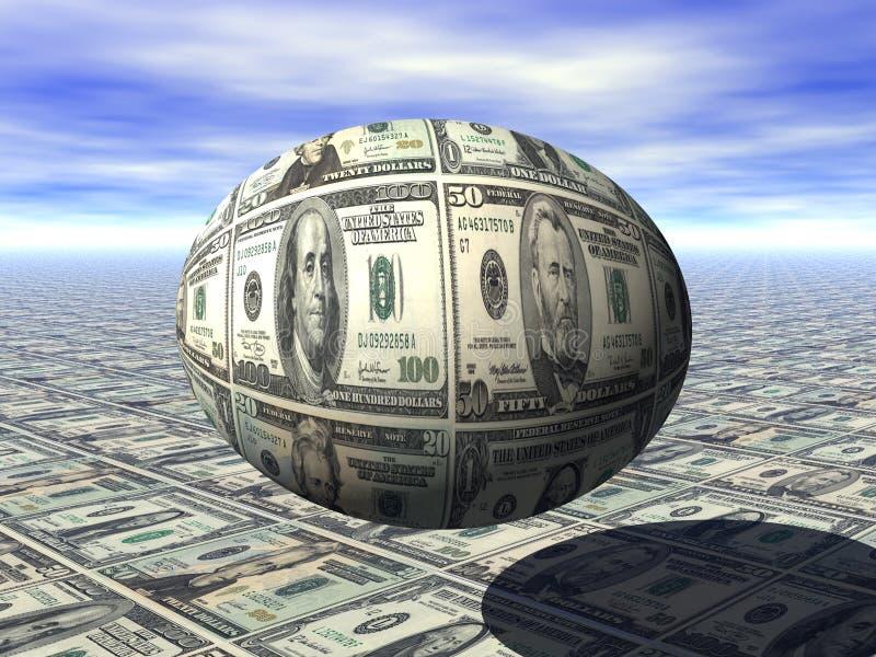 GNIAZDOWEGO jajka oszczędzania funduszu emerytalnego bogactwa PIENIĘŻNY planowanie ilustracja wektor