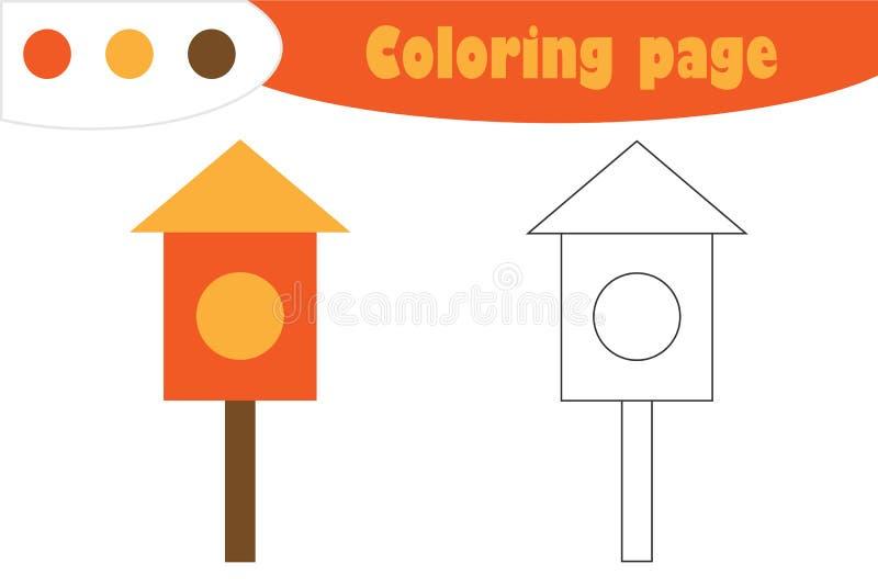 Gniazdujący pudełko w kreskówka stylu, barwi stronę, wiosny edukacji papieru gra dla rozwoju dzieci, żartuje preschool aktywność ilustracji