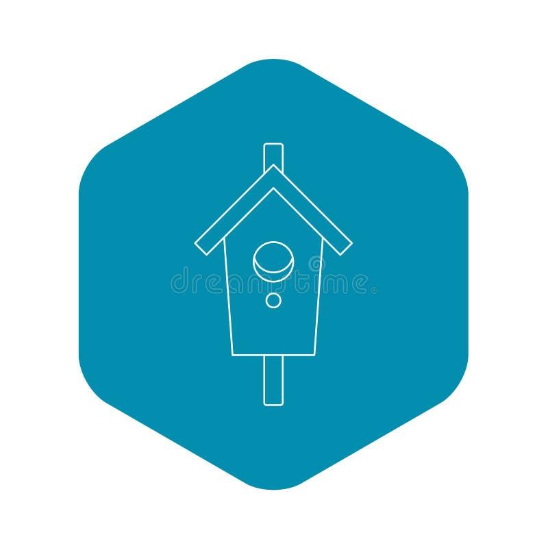 Gniazdujący, pudełkowata ikona, konturu styl ilustracji