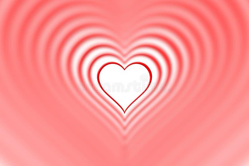 Gniazdujący czerwoni tło serca szczęśliwe dni valentines royalty ilustracja