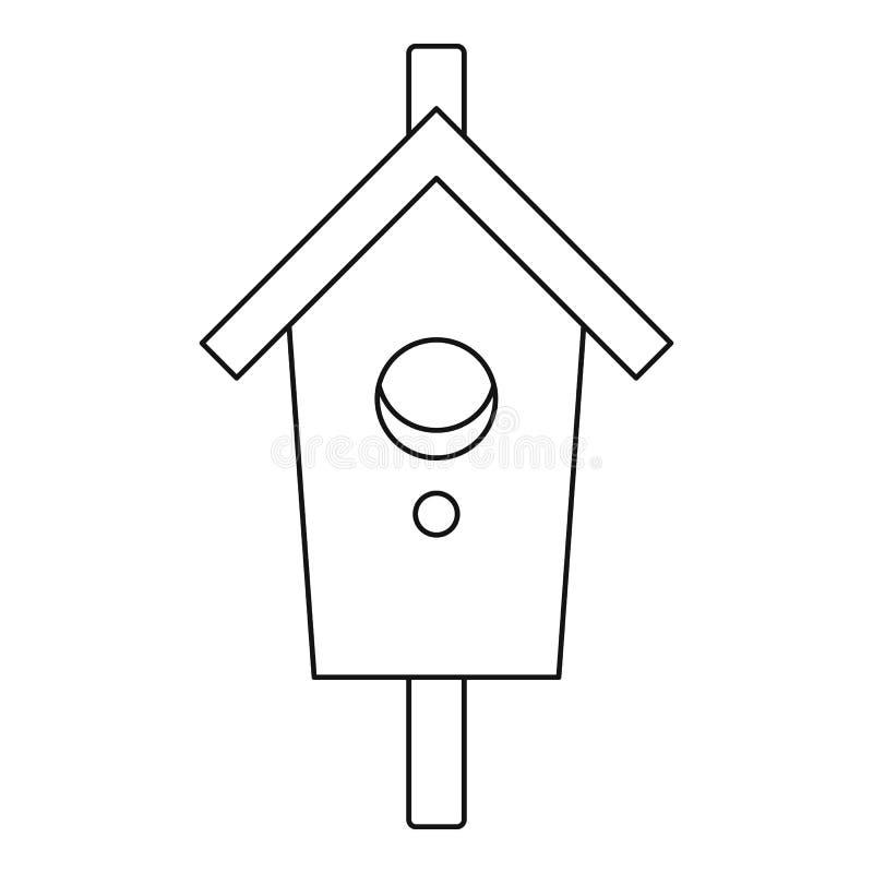 Gniazdujący, pudełkowata ikona, konturu styl royalty ilustracja