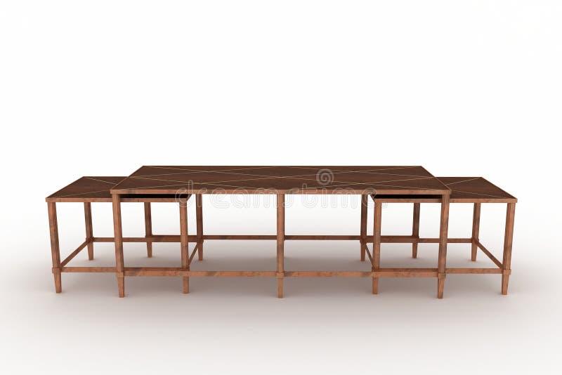 gniazdujący stół royalty ilustracja