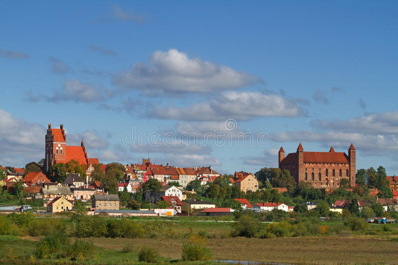 Download Gniew old town stock image. Image of coast, green, european - 17917331