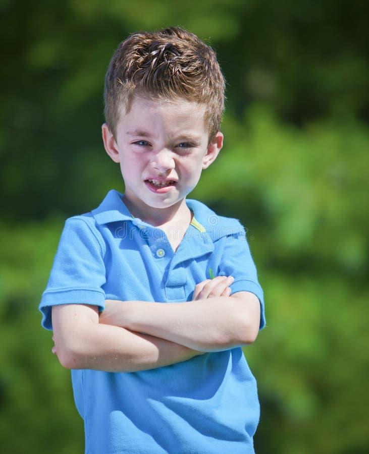 gniewna chłopiec zdjęcie royalty free
