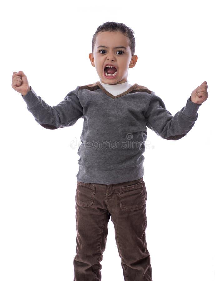 Gniewna chłopiec zdjęcia royalty free