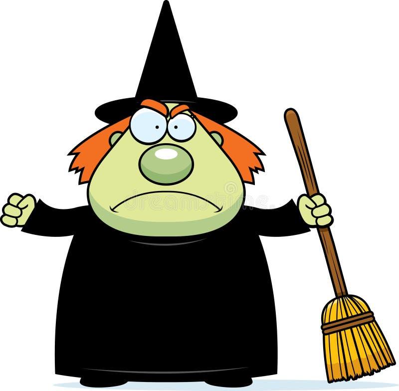 gniewna czarownica royalty ilustracja