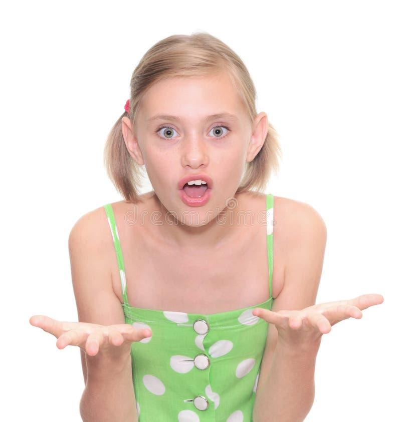 gniewna dziewczyna obraz stock