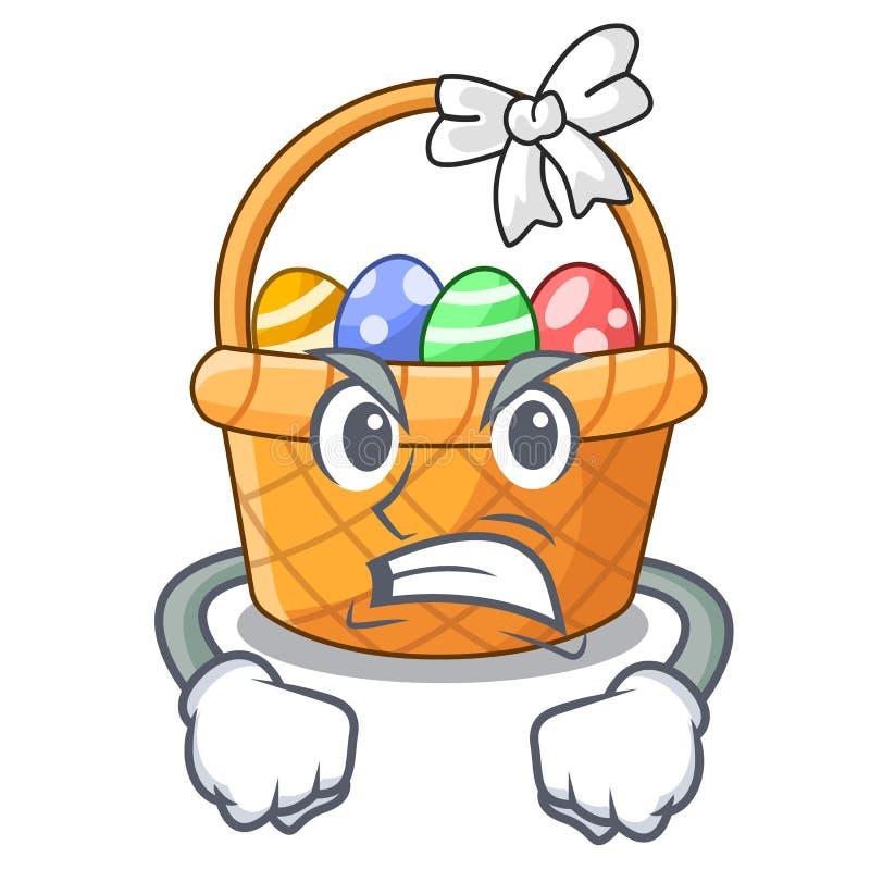 Gniewna Easter kosza miniatura kształt maskotka royalty ilustracja