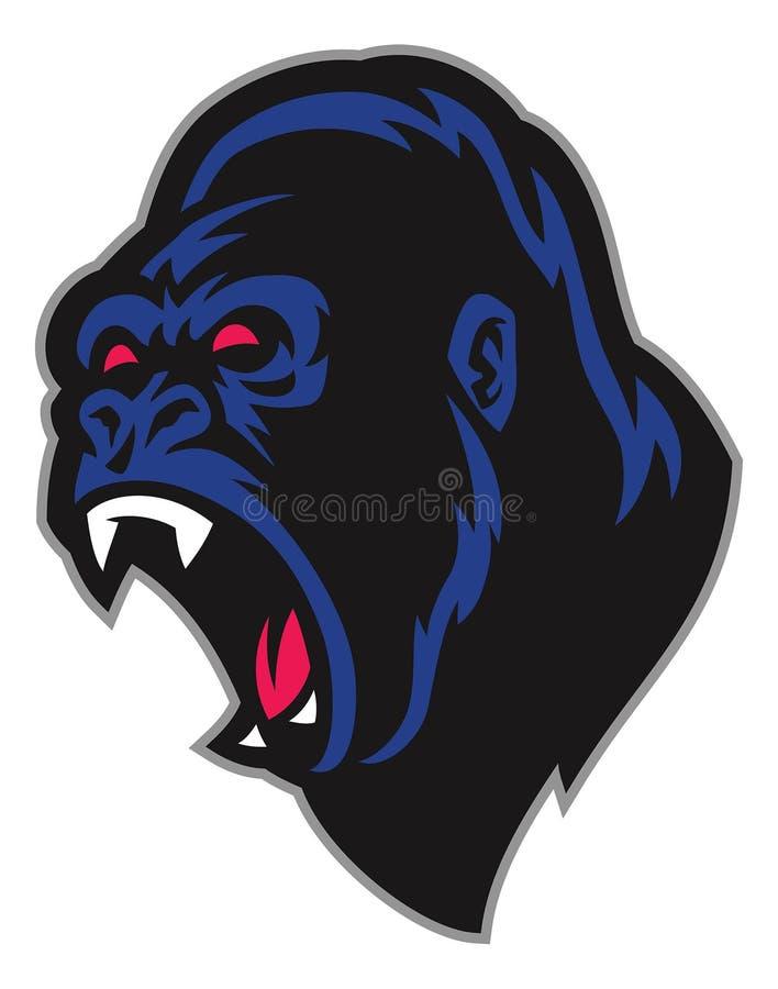 Gniewna goryl maskotka ilustracji