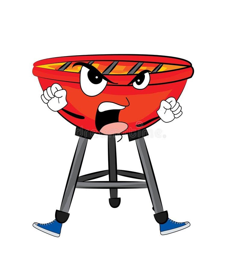 Gniewna grill kreskówka ilustracji