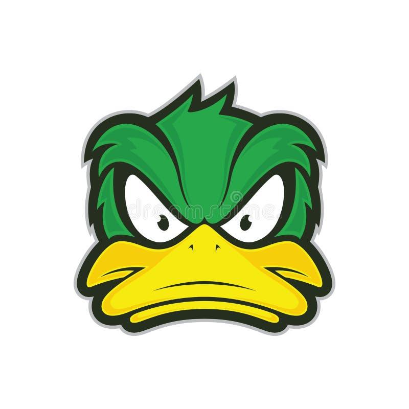 Gniewna kaczki maskotka ilustracja wektor