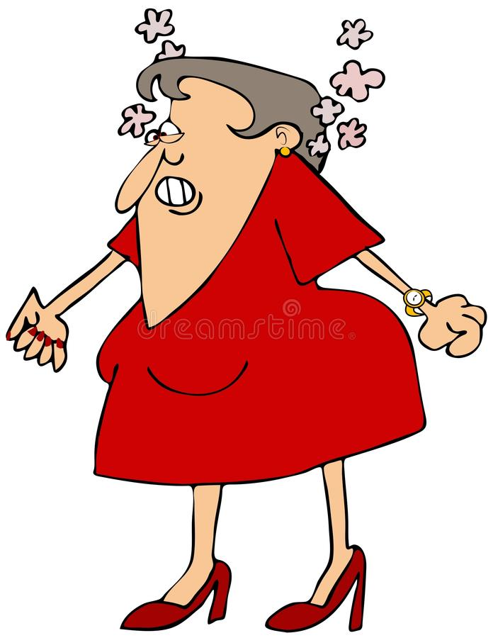 Gniewna kobieta royalty ilustracja