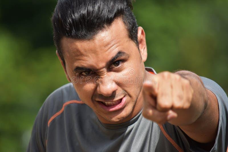 Gniewna Męska atleta obrazy stock