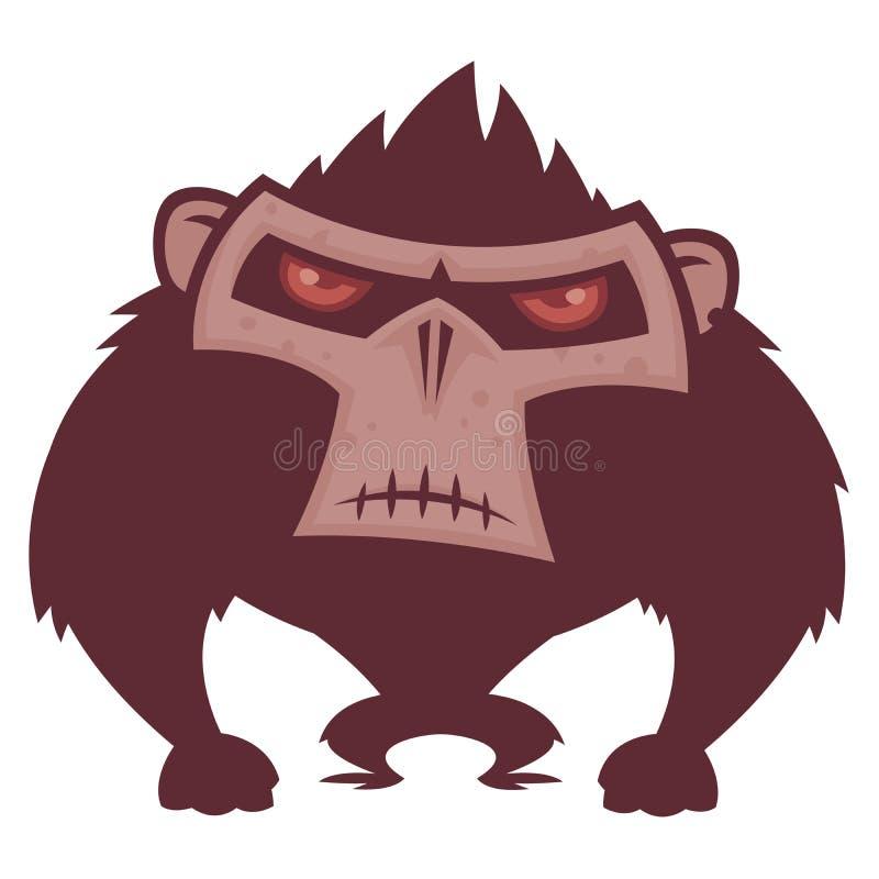 gniewna małpa ilustracji