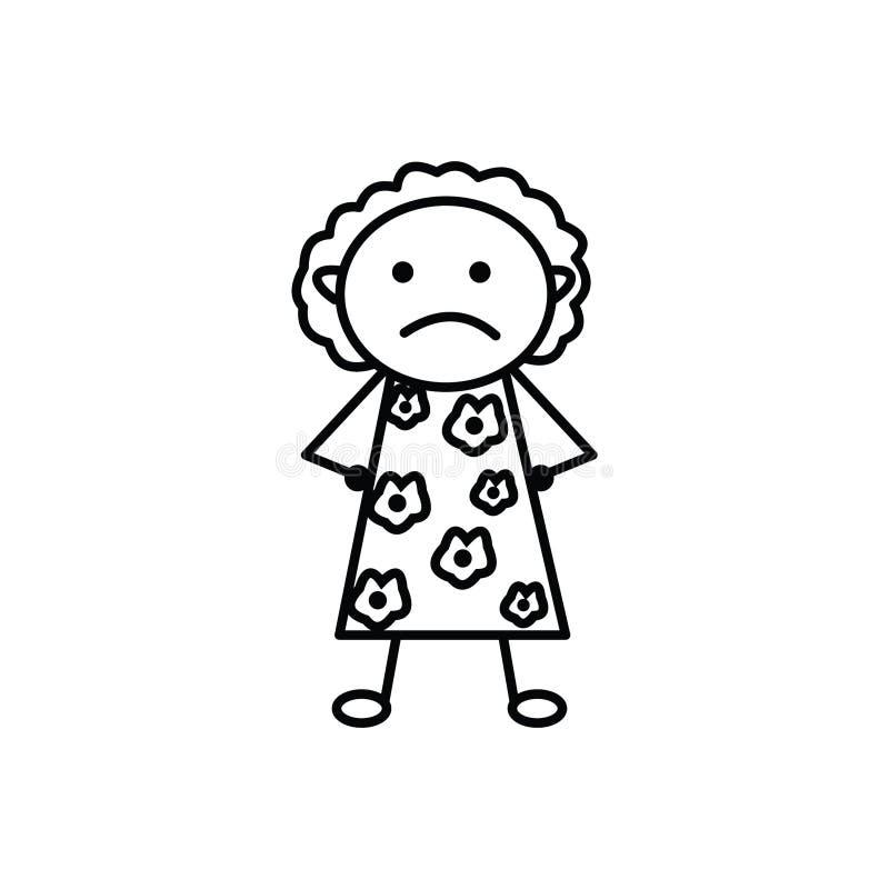 Gniewna mama z doodle sztuki stylem royalty ilustracja