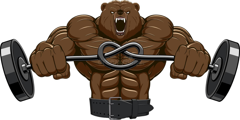 Gniewna niedźwiedź głowy maskotka zdjęcie stock