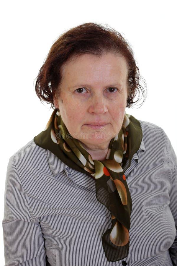 Gniewna starsza kobieta obraz stock