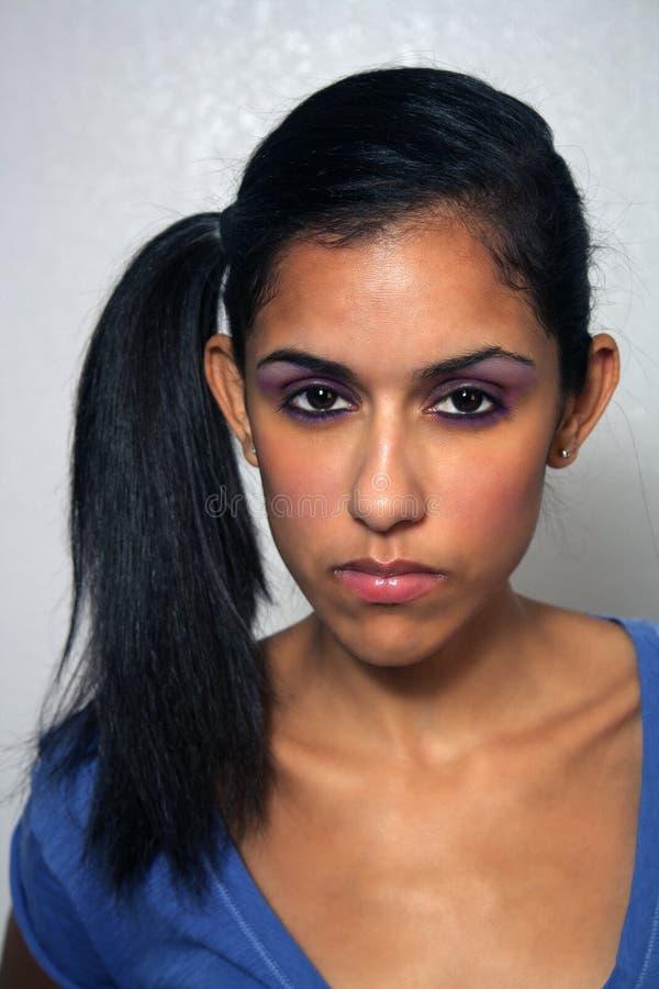 gniewna wyrażeniowa twarzowa kobieta zdjęcia stock