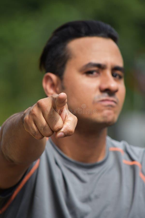 Gniewnej atlety Kolumbijska osoba zdjęcie stock