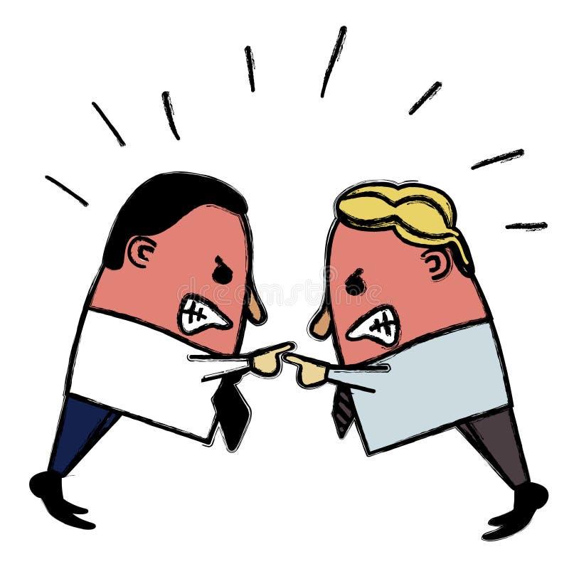 Gniewni biznesmeni ilustracji