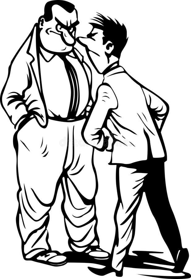 gniewni mężczyzna royalty ilustracja