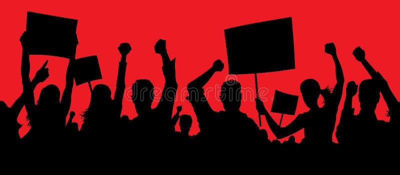 Gniewni protestujący ilustracja wektor