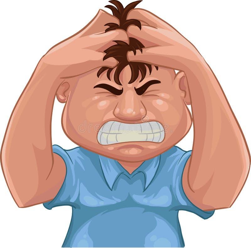 gniewny ilustracja wektor