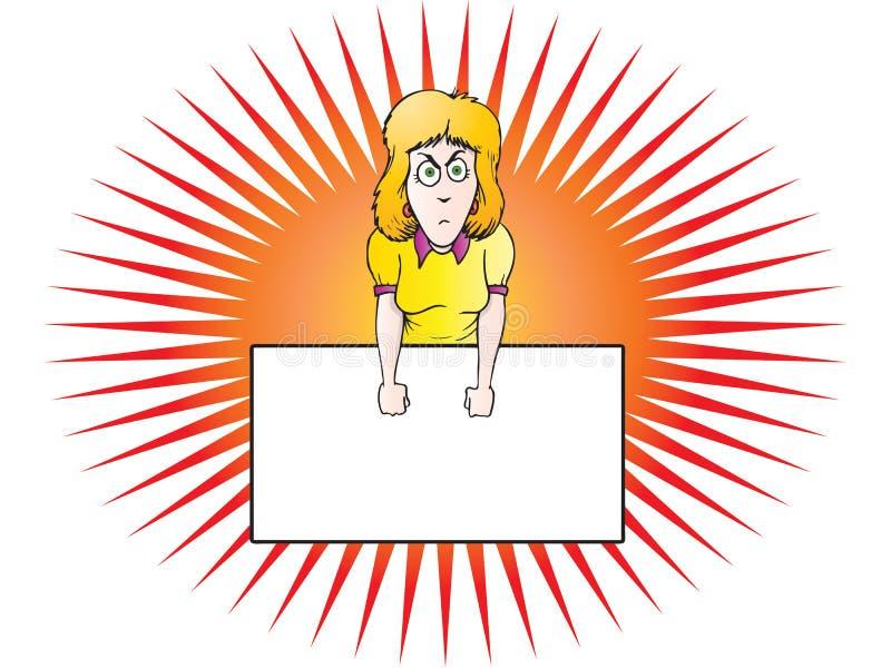 gniewny bizneswoman royalty ilustracja