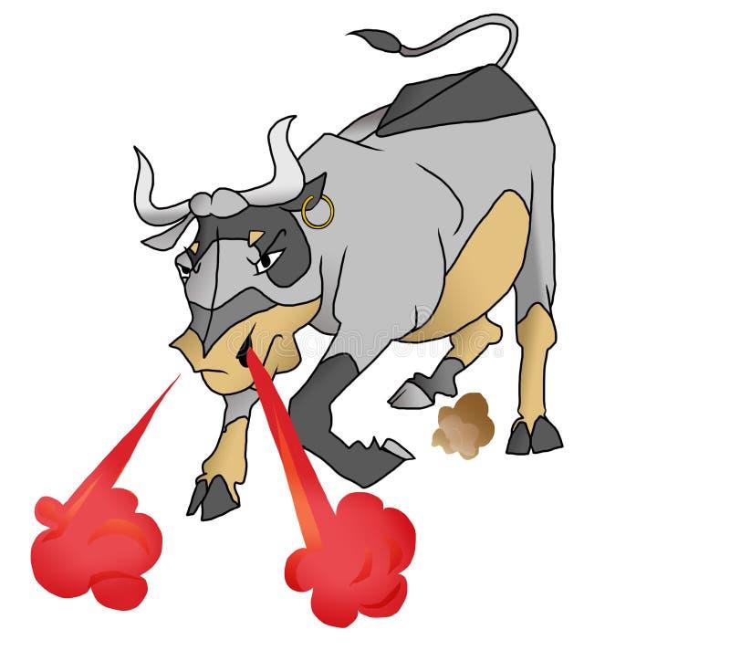 Gniewny byk royalty ilustracja