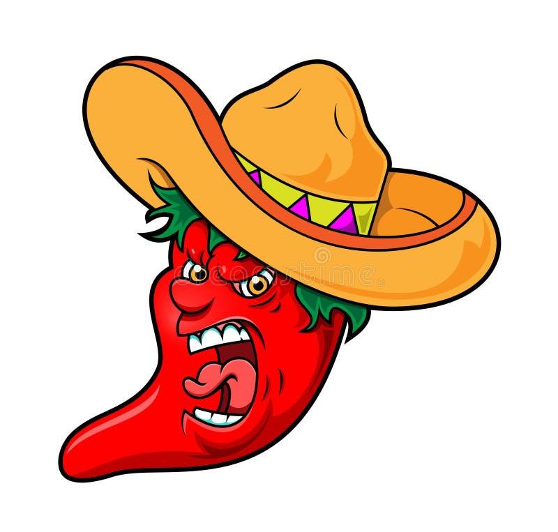 Gniewny Chili royalty ilustracja
