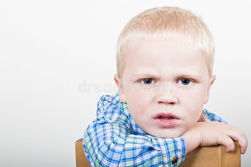 Gniewny dziecko fotografia stock