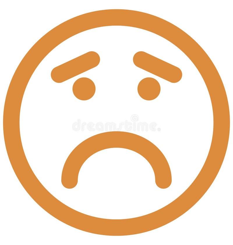 Gniewny, emoticons Wektorowa Odosobniona ikona emoticons Wektorowa Odosobniona ikona która może łatwo modi która może modyfikować ilustracja wektor