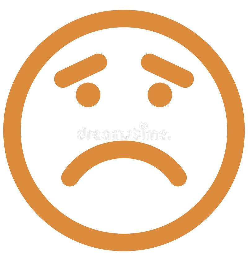 Gniewny, emoticons Wektorowa Odosobniona ikona kt?ra mo?e ?atwo redagowa? lub modyfikowa? ilustracji