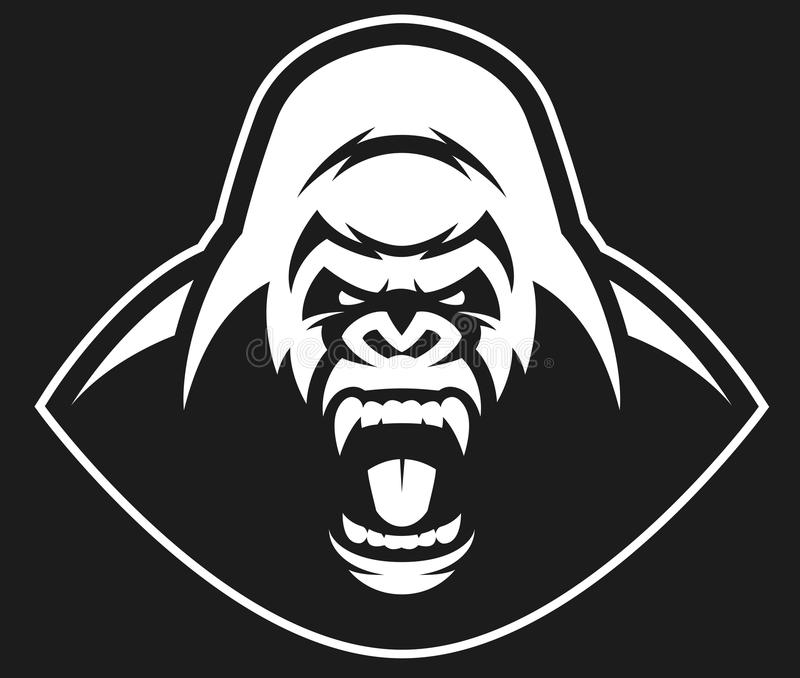 Gniewny goryla symbol royalty ilustracja